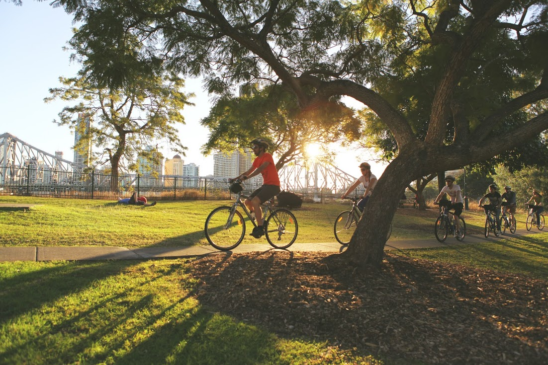 Cycling in 'Brissy'