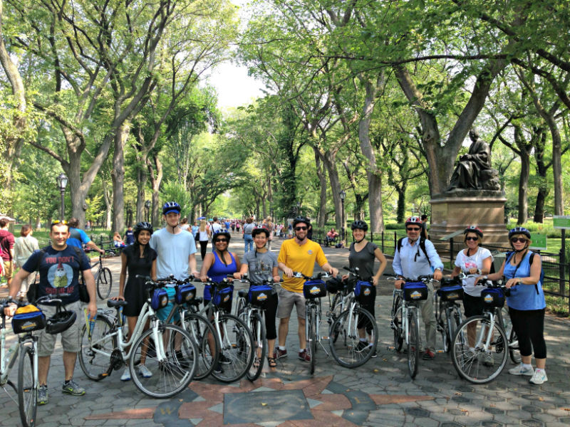 Central Park group riding